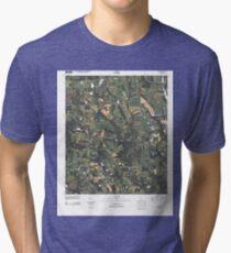 USGS TOPO Map Georgia GA Cotton 20110314 TM Tri-blend T-Shirt