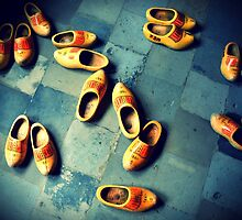 wooden slippers in Holland by palinta