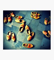 wooden slippers in Holland Photographic Print