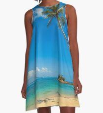 Tropische Palmen A-Linien Kleid