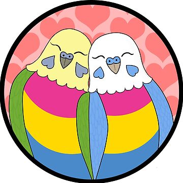 Pansexuality Pride Parakeets by Shadowfudo