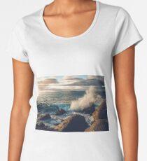 Rocky Shore Waves Women's Premium T-Shirt