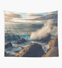 Rocky Shore Waves Wall Tapestry