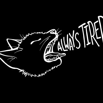 Always Tired - Yawning Cat by darkwonderbrand