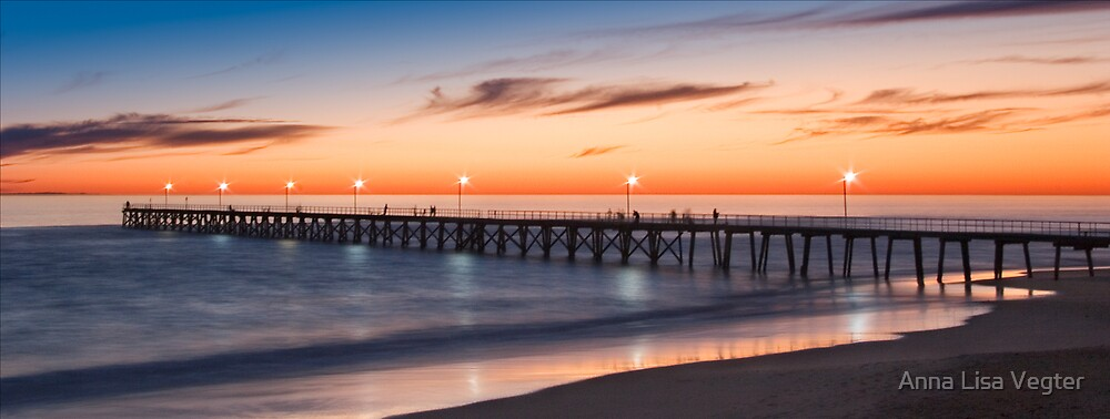 Port Noarlunga Jetty at sunset by Anna Lisa Vegter