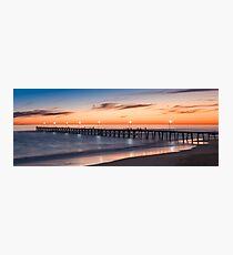 Port Noarlunga Jetty at sunset Photographic Print