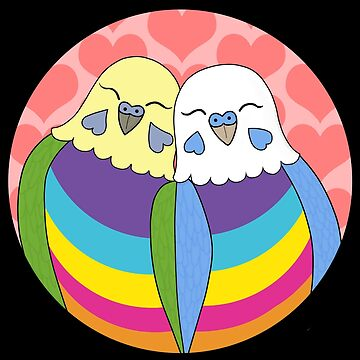 Gender Nonbinary Pride Parakeets by Shadowfudo
