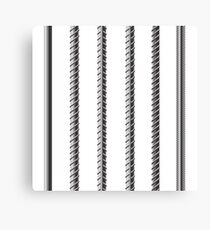 Rebars, Reinforcement Steel Isolated on White Background. Construction Metal Armature. Canvas Print