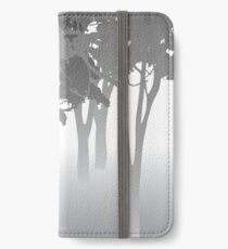 Morning Fog - kangaroos - Australian bush scene iPhone Wallet/Case/Skin
