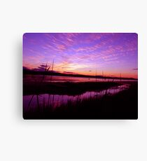Long Jetty lake Spectacular Sunset Canvas Print