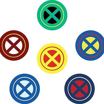 X Logo 6 Ways by justanerd