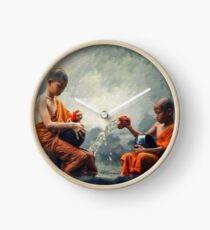 Living Waters - Monk boys at river Clock