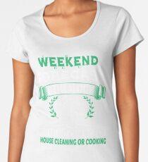 Weekend Forecast Genealogy T Shirt Women's Premium T-Shirt