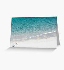 Aerial Beach Drone Greeting Card