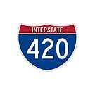 420 Interstate Road sign by thatstickerguy