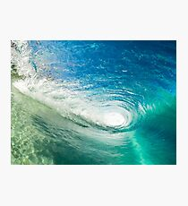 Wave Mandala - inside the barrel Photographic Print