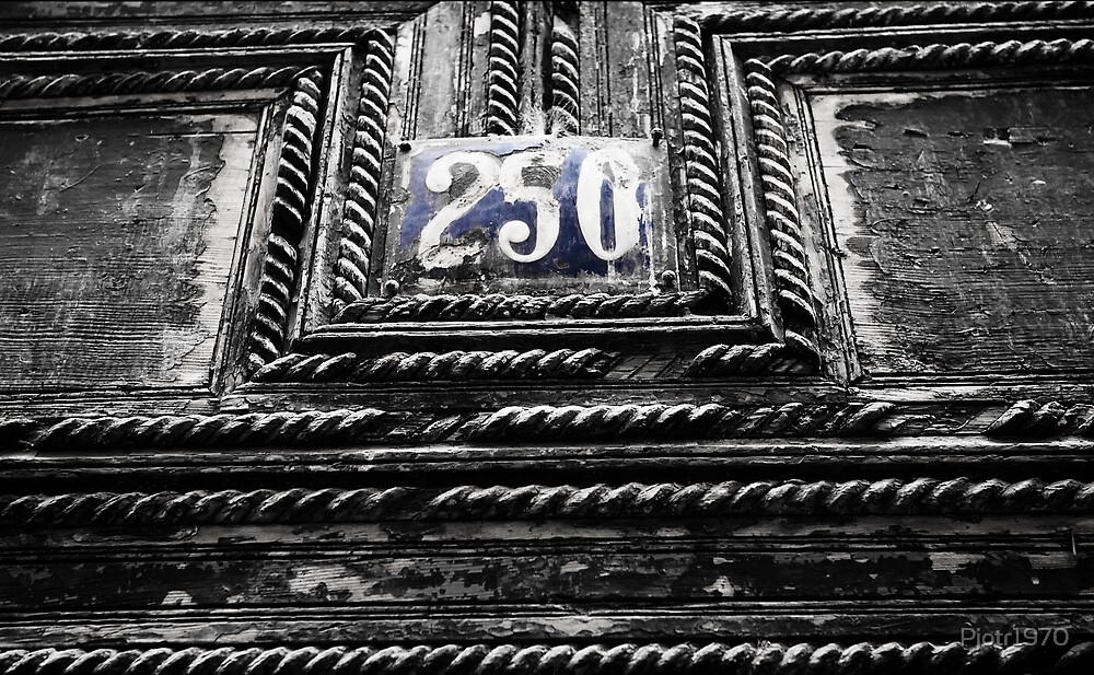 House number in Fez, Morocco by Pjotr1970