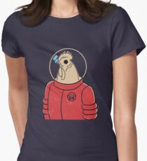 ROOSTER MAN FROM MARS Womens Fitted T-Shirt