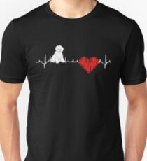 Special Old English Sheepdog(OES) Heartbeat Dog T-shirt  Unisex T-Shirt