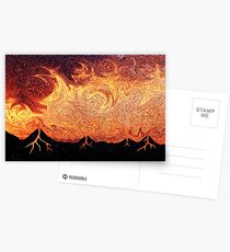 How Volcanoes are Made with Sky Lava Postcards