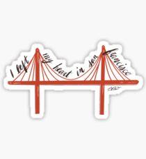 I Left My Heart In San Francisco Sticker