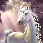 Unicorn in the forest by Antracit