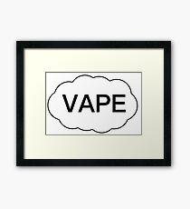 Vape Bumper Framed Print
