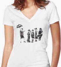Wear this Ink Wash on Wednesdays Women's Fitted V-Neck T-Shirt