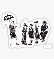 Wear this Ink Wash on Wednesdays Sticker