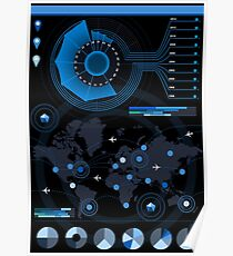 Abstract Futuristic infographic big data Poster