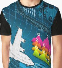 Isometric Airplane Infographic Airport Graphic T-Shirt