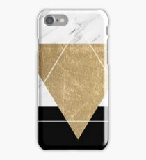 Golden marble deco geometric iPhone Case/Skin