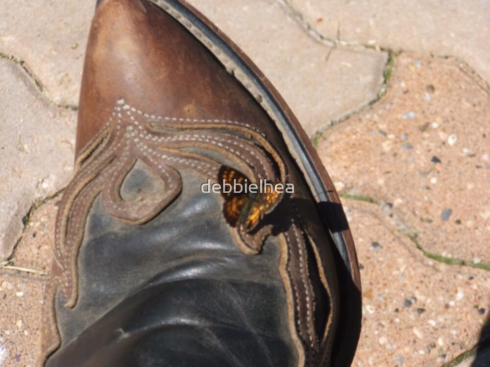 Butterfly on my Boot by debbielhea