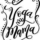 Yoga Mama Black Hand Lettering Design by DoubleBrush