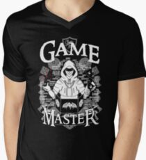 Game Master - White Men's V-Neck T-Shirt
