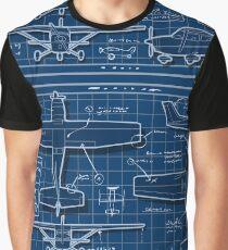Plane Project Blue Print Graphic T-Shirt