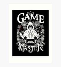 Game Master - White Art Print