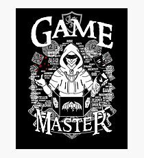 Game Master - White Photographic Print