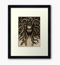 Dark Medusa Framed Print