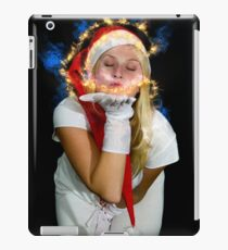 Blonde woman with Santa Hat iPad Case/Skin