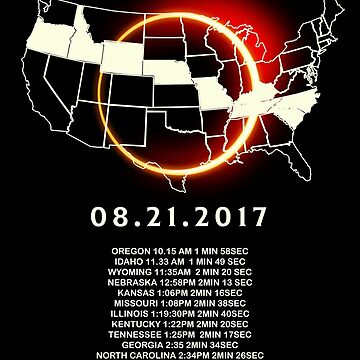 States of the USA Total Eclipse 08/21/2017 by vince58