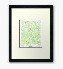USGS TOPO Map Georgia GA Crawley 245440 1971 24000 Framed Print