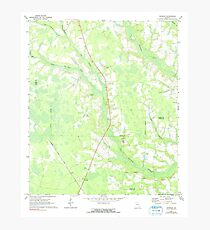 USGS TOPO Map Georgia GA Crawley 245440 1971 24000 Photographic Print