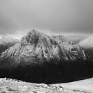 The Buachaille winter Black and White by beavo