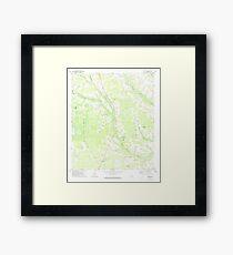 USGS TOPO Map Georgia GA Crawley 245441 1971 24000 Framed Print