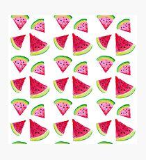 Watermelon platter Photographic Print