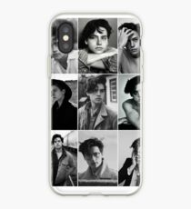 cole sprouse black and white aesthetic collage iPhone Case