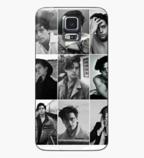 cole sprouse black and white aesthetic collage Case/Skin for Samsung Galaxy