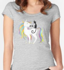 a04180ac8378 Rainbow pony in disguise Women s Fitted Scoop T-Shirt