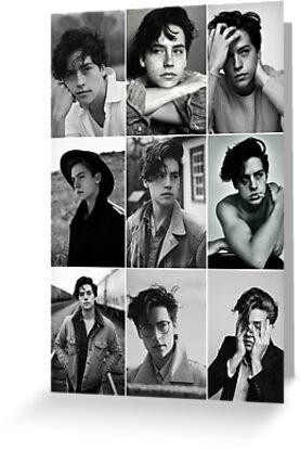 Cole Sprouse schwarze und weiße ästhetische Collage von alyciathefox